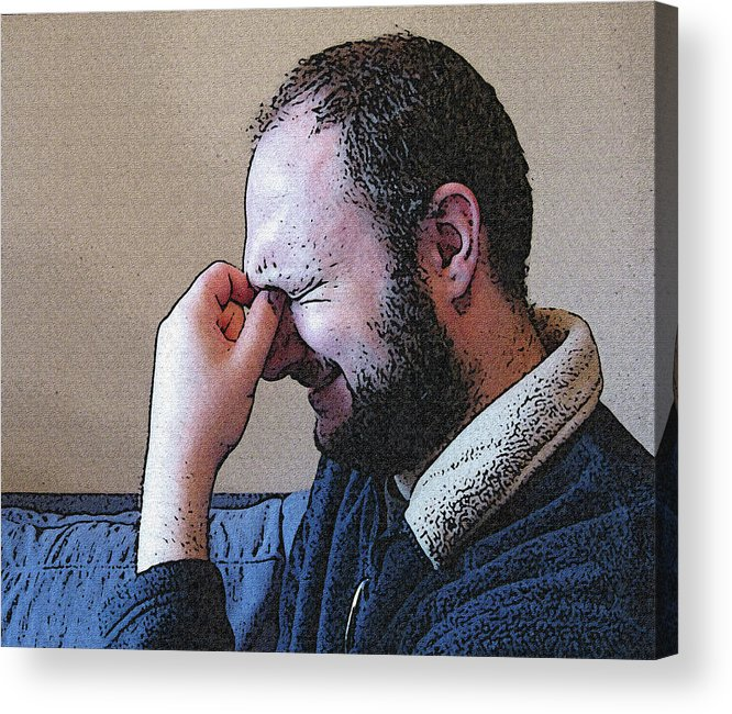 Depression Acrylic Print featuring the mixed media Depression by Darren Stein