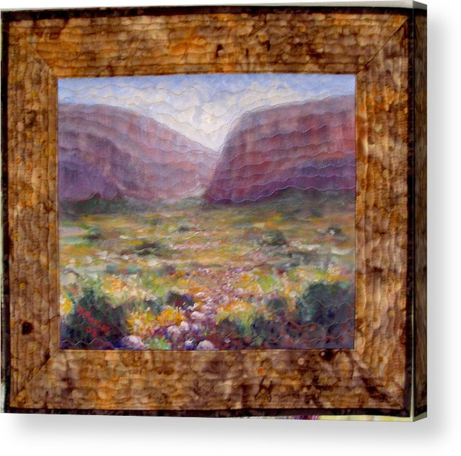 Realism Acrylic Print featuring the mixed media Desert Spring by Diane and Donelli DiMaria