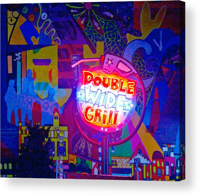Pop Art Acrylic Print featuring the photograph For Van Cordle My Friend by John Toxey