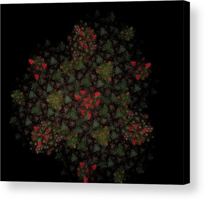 Fantasy Acrylic Print featuring the digital art Fractal Christmasbouquet by David Lane