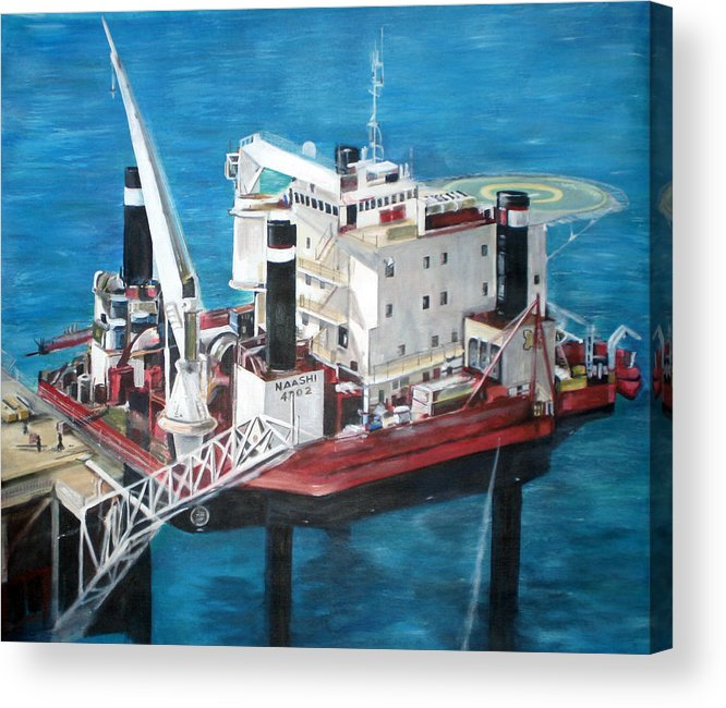 Acrylic Print featuring the painting Gulf Marine Services - Naashi by Fiona Jack
