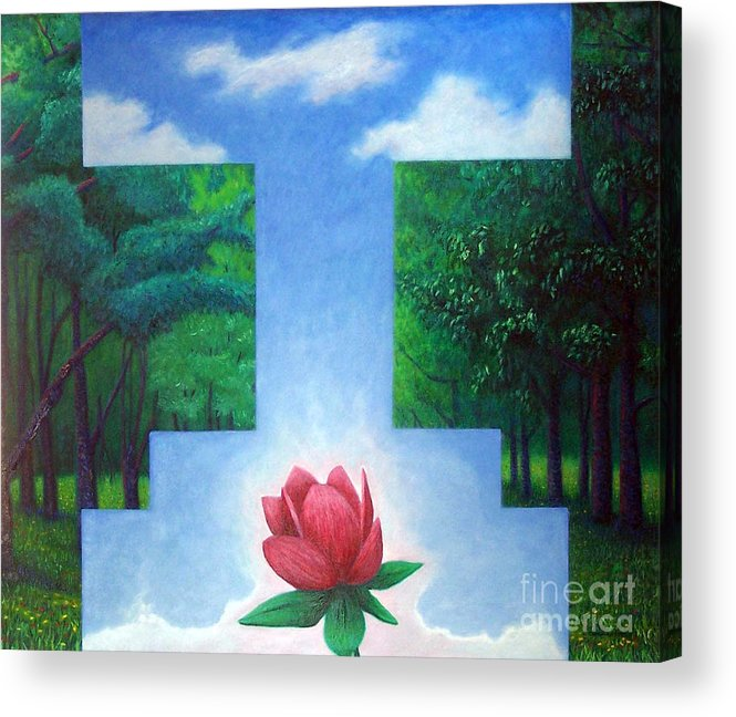 Spiritual Acrylic Print featuring the painting Inner Bliss by Brian Commerford
