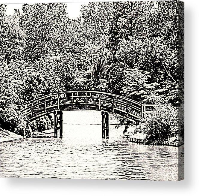 Bridge Acrylic Print featuring the photograph Lake Bridge by Rodger Mansfield