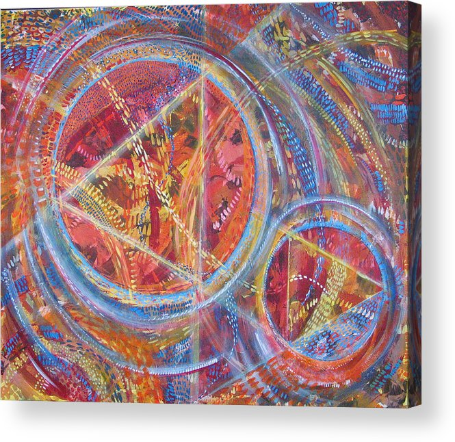 Geometric Acrylic Print featuring the painting Microcosm Xvi by Rollin Kocsis