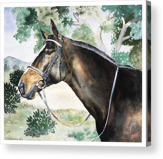 Portrait Acrylic Print featuring the painting Millie by Eileen Hale