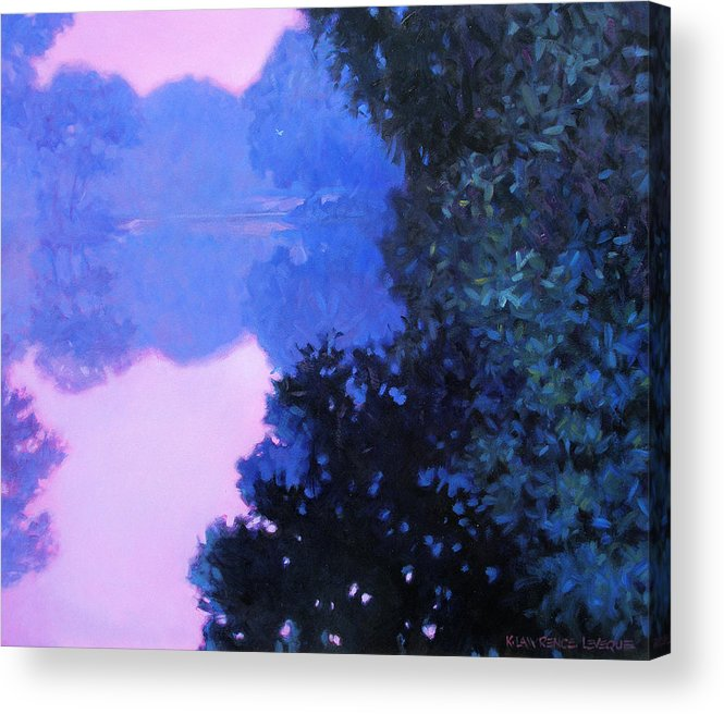 Landscape Painting Acrylic Print featuring the painting Moody River by Kevin Lawrence Leveque
