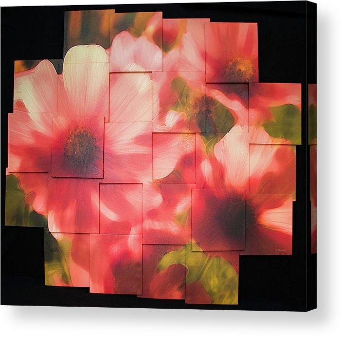 Flower Acrylic Print featuring the sculpture Nocturnal Pinks Photo Sculpture by Michael Bessler