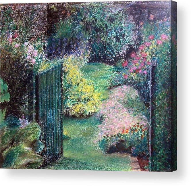 Landscape Acrylic Print featuring the painting Parc by Muriel Dolemieux