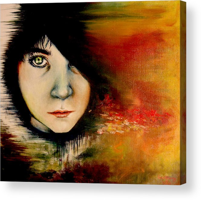 Sunset Acrylic Print featuring the painting Regaining Strenght by Freja Friborg