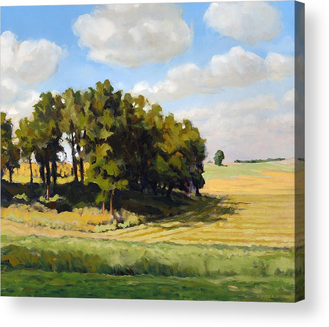 Landscape Acrylic Print featuring the painting September Summer by Bruce Morrison