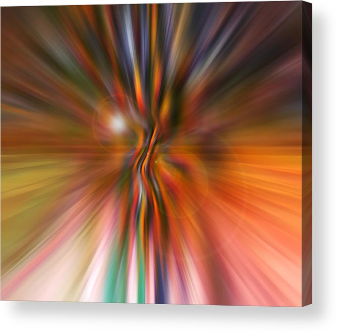 Abstract Art Acrylic Print featuring the digital art Shine On by Linda Sannuti