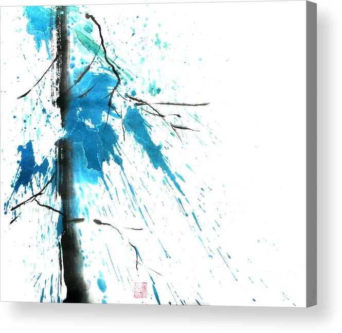 Strong Acrylic Print featuring the painting Spirit Of Pine I by Mui-Joo Wee