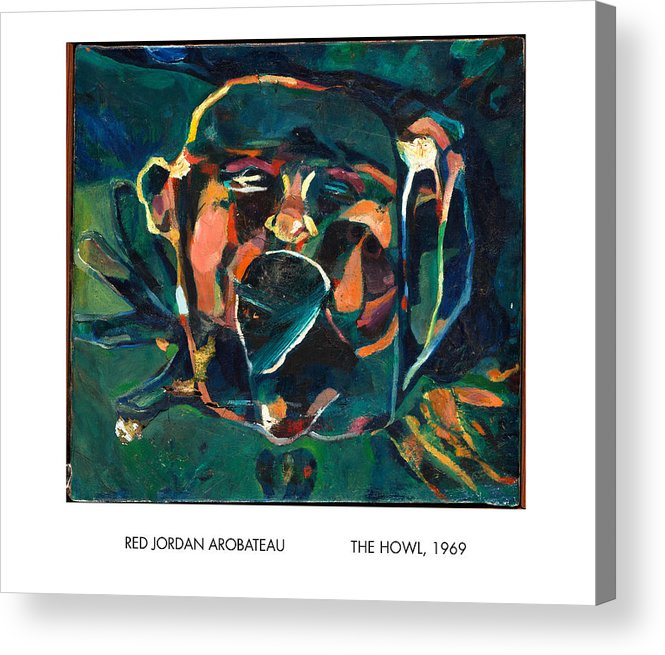 Howl Acrylic Print featuring the painting The Howl by Red Jordan Arobateau