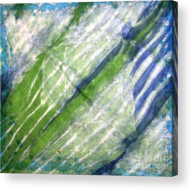 Tie Dye Art Acrylic Print featuring the photograph Tie Dye Art. Rainforest In Spring by Ausra Huntington nee Paulauskaite