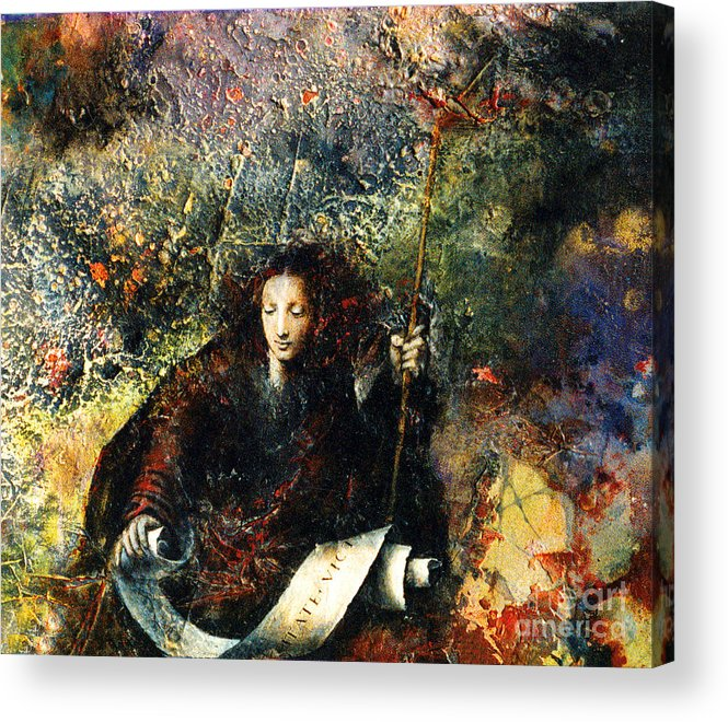 Truth Acrylic Print featuring the painting Veritas by Marne Adler