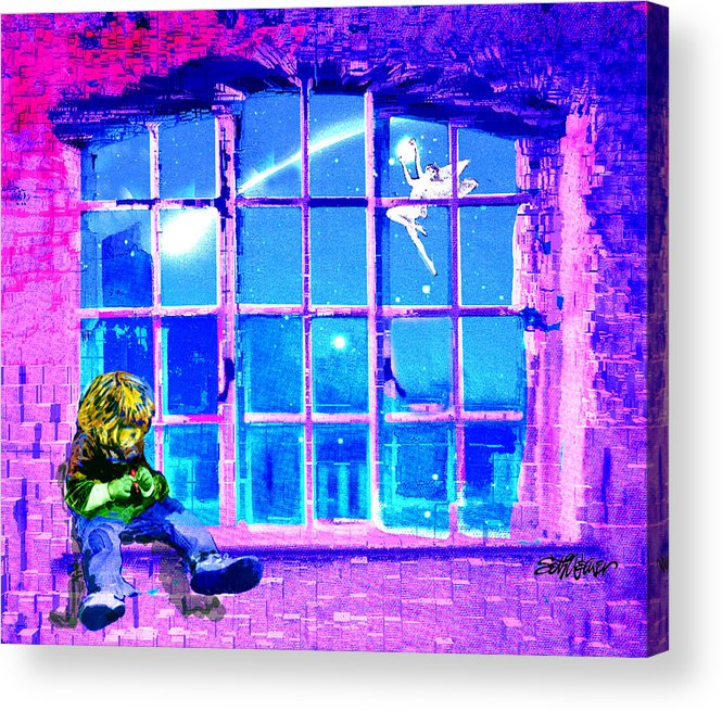 Window Of Dreams Acrylic Print featuring the digital art Window Of Dreams by Seth Weaver