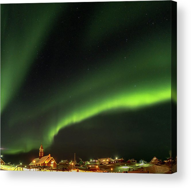 Arctic Acrylic Print featuring the photograph Ilulissat Icefjord Also Called Kangia by Martin Zwick