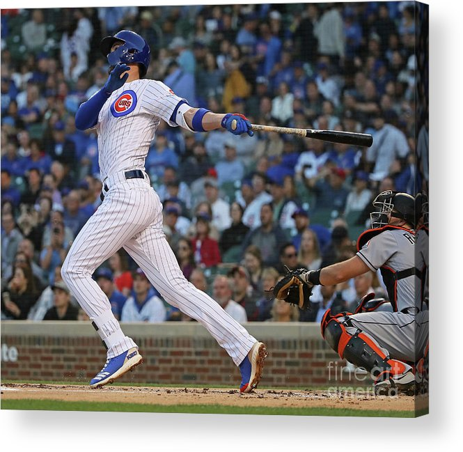 People Acrylic Print featuring the photograph Miami Marlins V Chicago Cubs 4 by Jonathan Daniel
