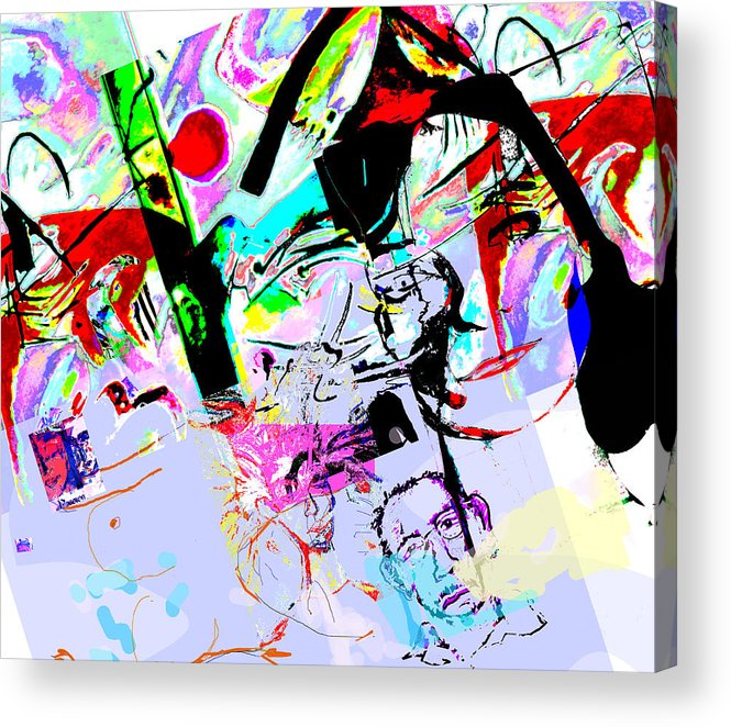 Abstract Acrylic Print featuring the mixed media Paris by Noredin Morgan