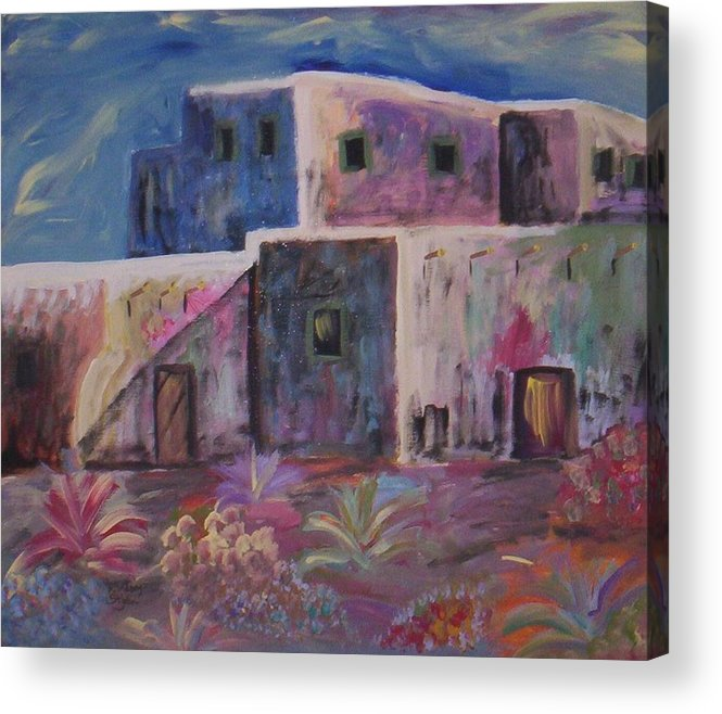 Landscape Acrylic Print featuring the painting Santa Fe Dreams by Lindsay St john