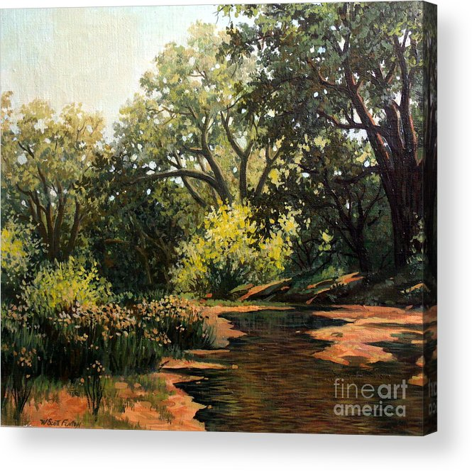 Landscape Acrylic Print featuring the painting Study Of Michael Stack by W Scott Fenton