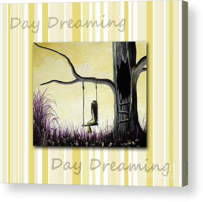 Nursery Decor Acrylic Print featuring the painting Day Dreaming In Yellow By Shawna Erback by Shawna Erback