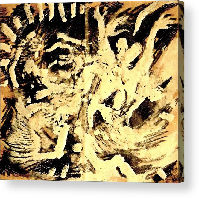 Spiritual Art Acrylic Print featuring the painting Resurrection by Daniel Bonnell