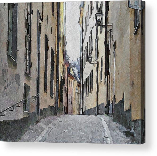Stockholm Acrylic Print featuring the digital art Stockholm 13 by Yury Malkov