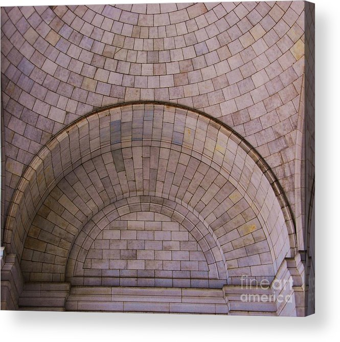 Union Station Art Washington D.c. Arch Geometric Design Iconic Train Station Architecture Landmark Minimalism Stone Work Whimsy Dome Travel Wood Print Metal Frame Canvas Print Poster Print Available On Pouches Weekender Tote Bags T Shirts Mugs Tote Bags Throw Pillows Spiral Notebooks And Phone Cases Acrylic Print featuring the photograph Union Station Arch, Washington D. C. by Marcus Dagan