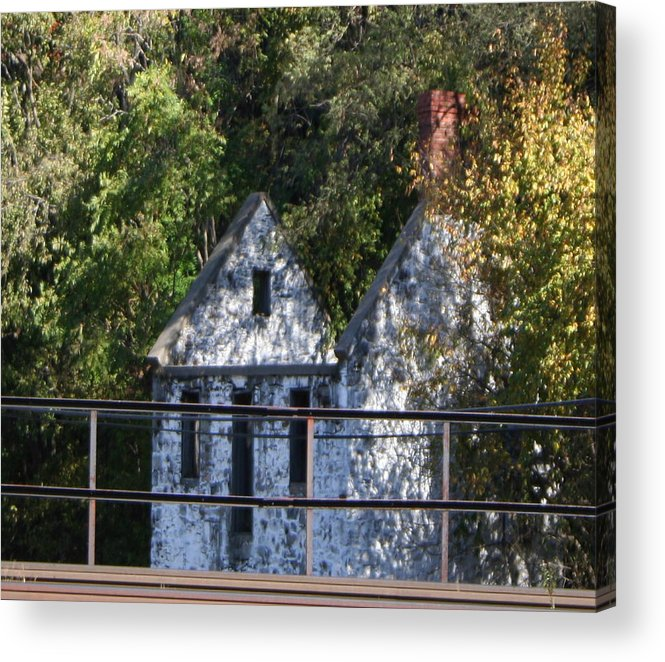 Stone House Acrylic Print featuring the photograph Caretakers House by Rebecca Smith