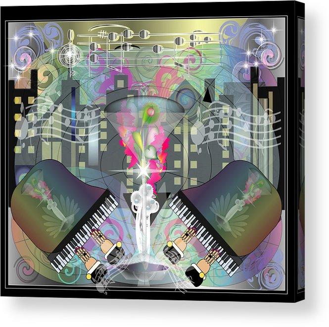Giclee Acrylic Print featuring the digital art City Night Life by George Pasini