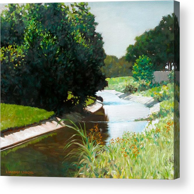 Landscape Acrylic Print featuring the painting Coulee by Kevin Lawrence Leveque