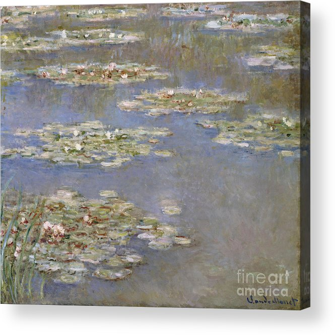 French Acrylic Print featuring the painting Nympheas by Claude Monet
