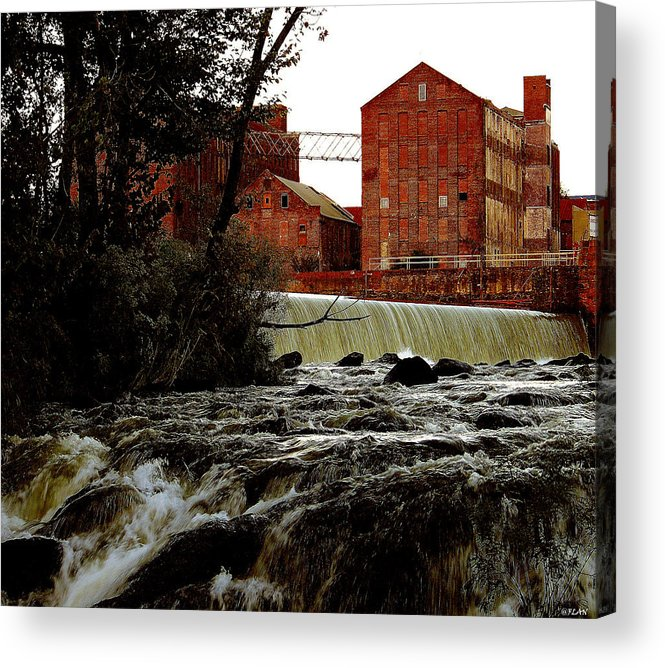 Water Acrylic Print featuring the photograph Old River Dam In Columbus Georgia by Ruben Flanagan