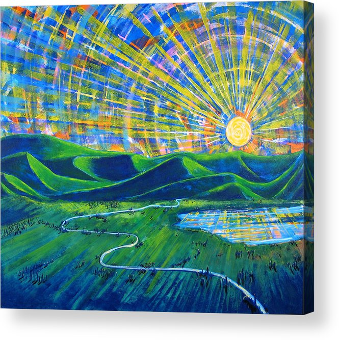 Sun Acrylic Print featuring the painting Sunscape by Rollin Kocsis