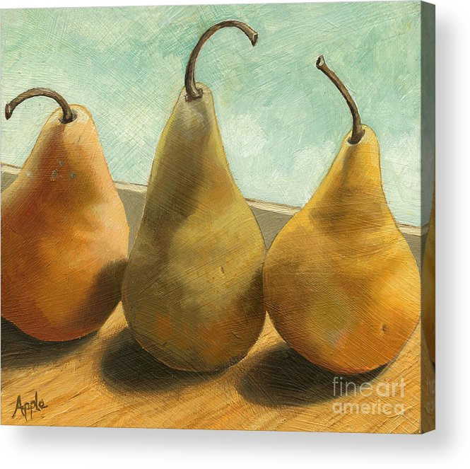 Realism Acrylic Print featuring the painting The Three Graces - Painting by Linda Apple