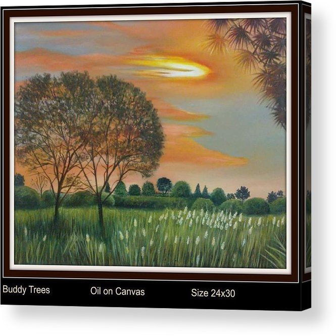 Acrylic Print featuring the painting Trees by Sumera Saleem