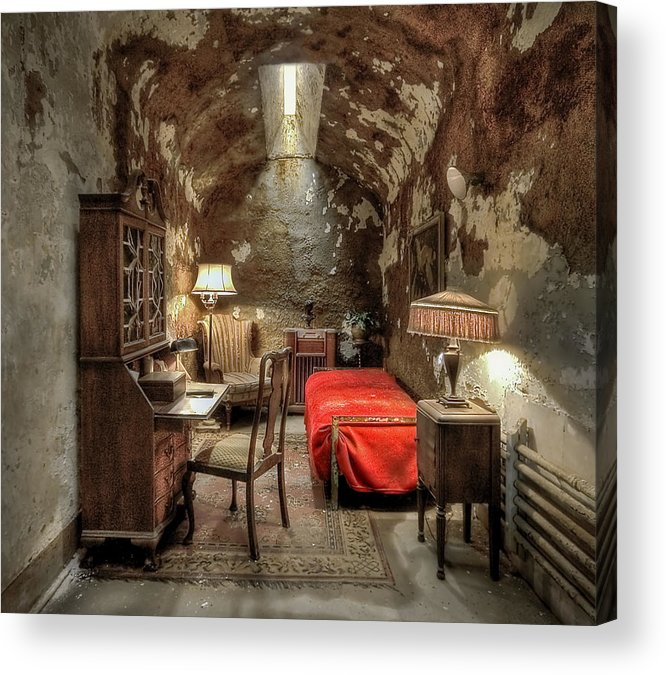 Abandoned Acrylic Print featuring the photograph Gangsta's Paradise by Evelina Kremsdorf