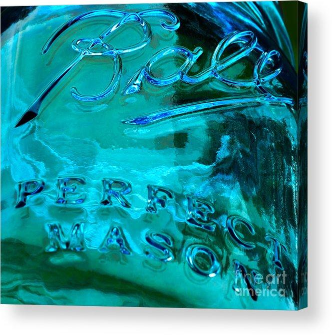 Macro Acrylic Print featuring the photograph Mason Jar I by Ben Baucum