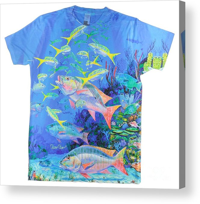 Mutton Snapper Acrylic Print featuring the digital art Mutton Snapper Mens Shirt by Carey Chen