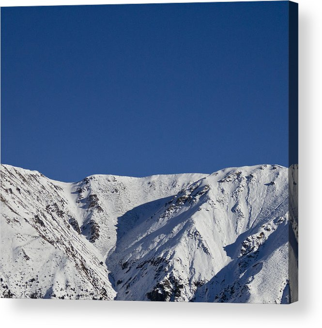 Landscape Acrylic Print featuring the photograph White On Blue by Tim Bow