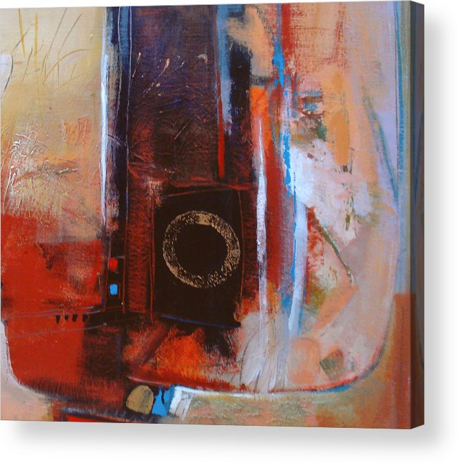 Abstract Acrylic Print featuring the digital art Centered Circle by Dale Witherow