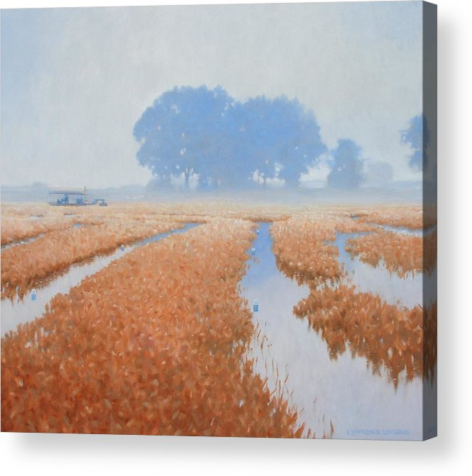 Farming Acrylic Print featuring the painting Crawfish In The Mist by Kevin Lawrence Leveque