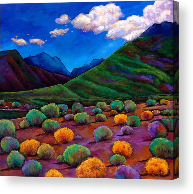 Arizona Acrylic Print featuring the painting Desert Valley by Johnathan Harris