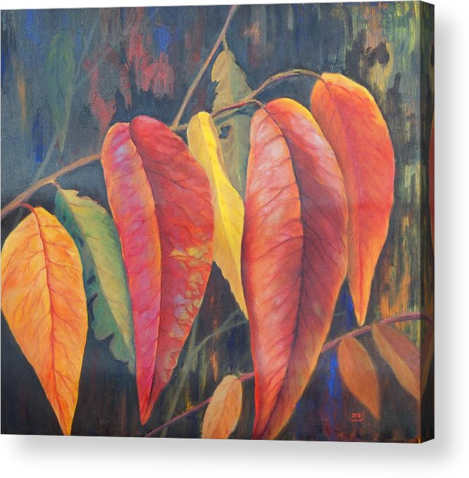 Leaves Acrylic Print featuring the painting Hanging Out by Brent Ciccone