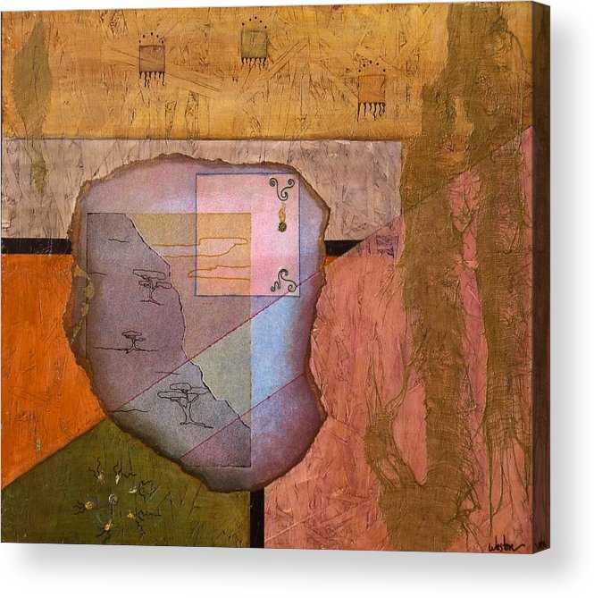 Abstract Landscape Acrylic Print featuring the painting Pheromones by Katherine Weston