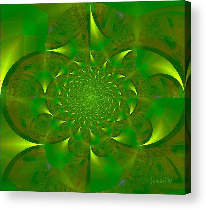 Fania Simon Acrylic Print featuring the digital art Plant Trees - Green Season by Fania Simon