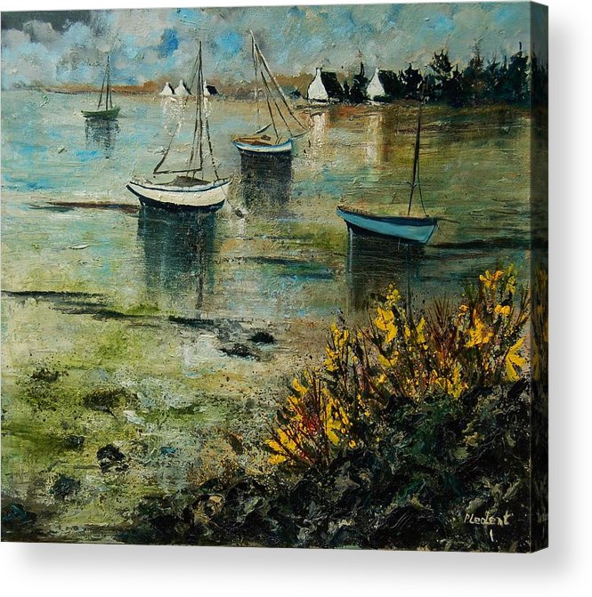 Seascape Acrylic Print featuring the print Seascape 78 by Pol Ledent
