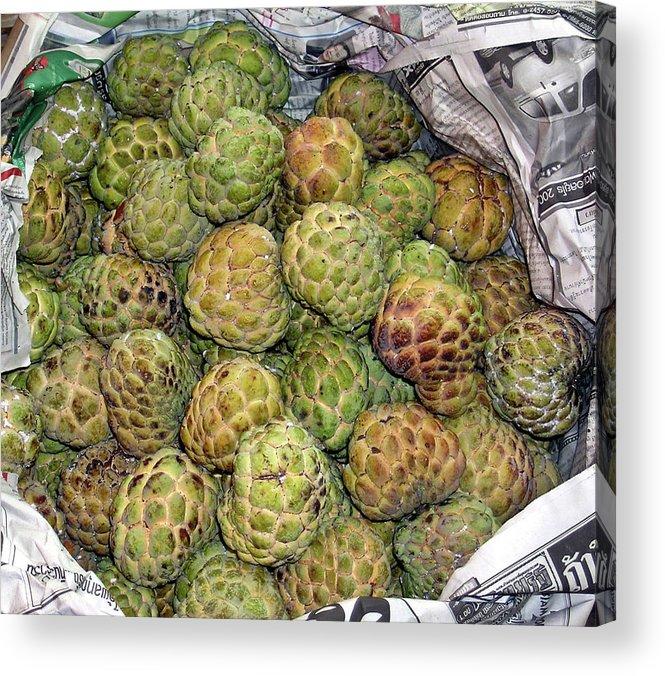 Thialand Acrylic Print featuring the photograph Troical Green Fruit 1 by Douglas Barnett
