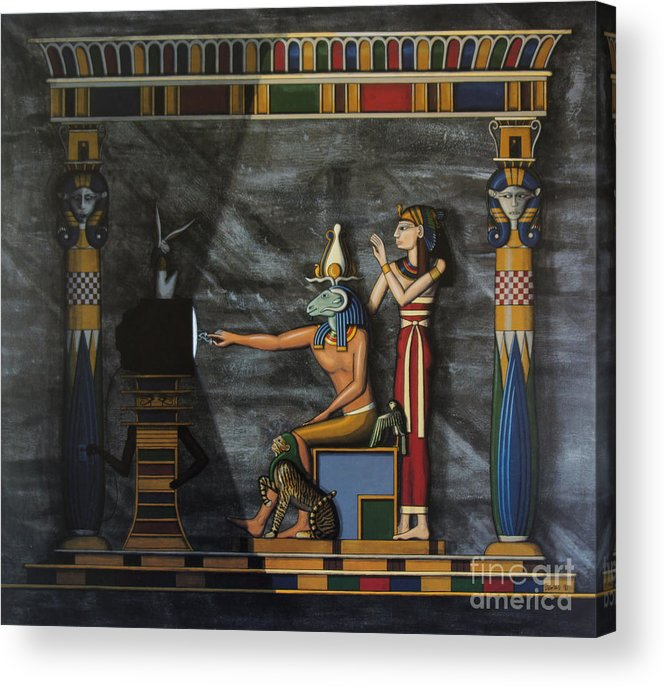 Egypt Acrylic Print featuring the painting B.c. Before Cable by Richard Deurer